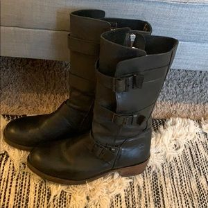 Dr. Martens Tall Black Buckle Boots